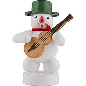 Kleine Figuren & Miniaturen Zenker Schneemänner Schneemann Musikant mit Gitarre - 8 cm