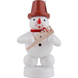 Kleine Figuren & Miniaturen Zenker Schneemänner Schneemann Musikant mit Kamm - 8 cm