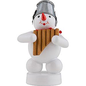 Kleine Figuren & Miniaturen Zenker Schneemänner Schneemann Musikant mit Panflöte - 8 cm