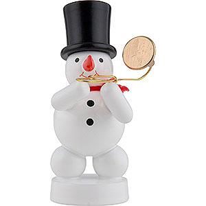 Kleine Figuren & Miniaturen Zenker Schneemänner Schneemann Musikant mit Posaune - 8 cm