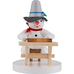 Kleine Figuren & Miniaturen Zenker Schneemänner Schneemann Zitherspieler - 8 cm
