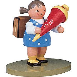 Kleine Figuren & Miniaturen Blumenkinder Schulanfänger Mädchen - 5 cm