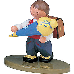 Kleine Figuren & Miniaturen Blumenkinder Schulanfänger Junge - 6 cm