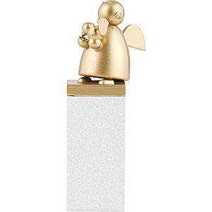 Weihnachtsengel Günter Reichel Schutzengel Gold Edition Schutzengel Gold mit Vogel - 8 cm