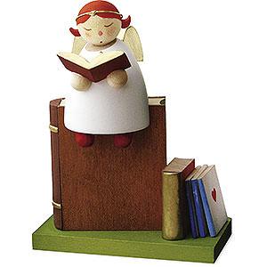 Weihnachtsengel Günter Reichel Schutzengel Schutzengel auf Buch lesend - 3,5 cm