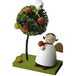 Weihnachtsengel Günter Reichel Schutzengel Schutzengel mit Apfel und Apfelbäumchen - 3,5 cm