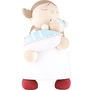 Weihnachtsengel Günter Reichel Schutzengel groß Schutzengel mit Baby Junge - 16 cm