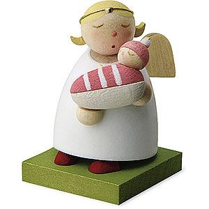 Weihnachtsengel Günter Reichel Schutzengel Schutzengel mit Baby - Mädchen - 3,5 cm