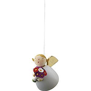 Weihnachtsengel Günter Reichel Schutzengel Schutzengel mit Blume schwebend - 3,5 cm