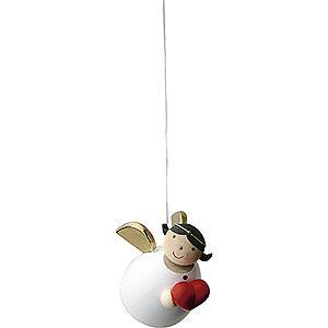 Weihnachtsengel Günter Reichel Schutzengel Schutzengel mit Herz schwebend - 3,5 cm