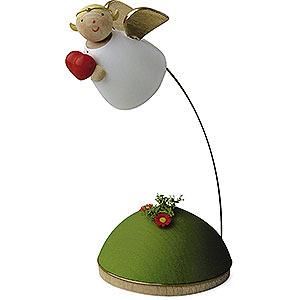 Weihnachtsengel Günter Reichel Schutzengel Schutzengel mit Herz schwebend am Ständer - 3,5 cm