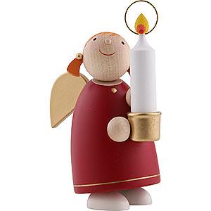 Weihnachtsengel Günter Reichel Schutzengel mittel Schutzengel mit Licht, rot - 8 cm