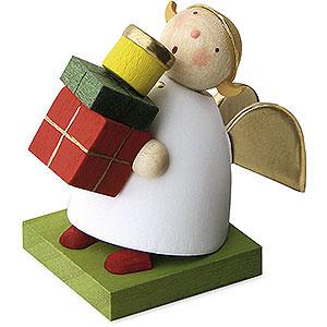 Weihnachtsengel Günter Reichel Schutzengel Schutzengel mit Päckchen - 3,5 cm