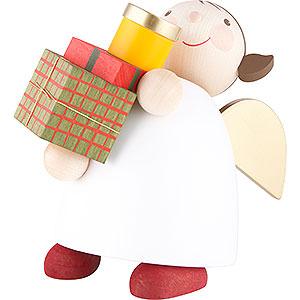 Weihnachtsengel Günter Reichel Schutzengel groß Schutzengel mit Paketen - 16 cm