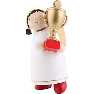 Weihnachtsengel Günter Reichel Schutzengel mittel Schutzengel mit Pokal (Gewinner) - 8 cm
