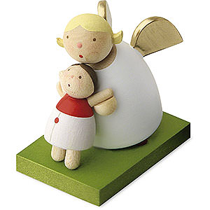 Geschenkideen Geburt und Taufe Schutzengel mit Püppchen - 3,5 cm