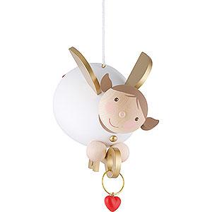 Weihnachtsengel Günter Reichel Schutzengel groß Schutzengel mit Schlüssel schwebend - 16 cm