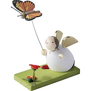 Kleine Figuren & Miniaturen Günter Reichel Schutzengel Schutzengel mit Schmetterling - 3,5 cm