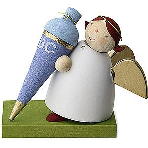 Weihnachtsengel Günter Reichel Schutzengel Schutzengel mit Schultüte - Junge - 3,5 cm
