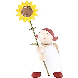 Weihnachtsengel Günter Reichel Schutzengel groß Schutzengel mit Sonnenblume - 26 cm