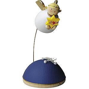 Weihnachtsengel Günter Reichel Schutzengel Schutzengel mit Stern schwebend am Ständer - 3,5 cm