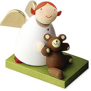 Weihnachtsengel Günter Reichel Schutzengel Schutzengel mit Teddy - 3,5 cm
