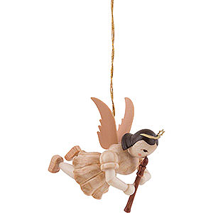 Weihnachtsengel Kurzrockschwebeengel (Blank) Schwebeengel Blockflöte, natur - 6,6 cm
