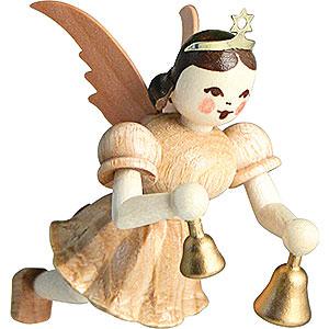Weihnachtsengel Kurzrockschwebeengel (Blank) Schwebeengel Glocken, natur - 6,6 cm