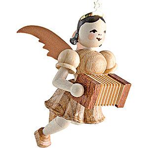Weihnachtsengel Kurzrockschwebeengel (Blank) Schwebeengel Harmonika, natur - 6,6 cm