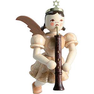 Weihnachtsengel Kurzrockschwebeengel (Blank) Schwebeengel Oboe, natur - 6,6 cm