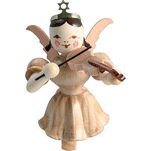 Weihnachtsengel Kurzrockschwebeengel (Blank) Schwebeengel Violine, natur - 6,6 cm