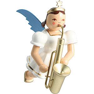 Baumschmuck Engel Baumbehang Schwebeengel Schwebengel farbig Saxophon - 6,6 cm
