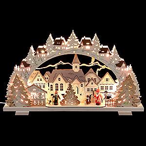 Schwibbögen Laubsägearbeiten Schwibbogen Adventszeit - 53x31x4,5 cm