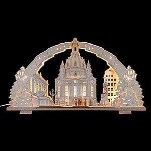 Schwibbögen Laubsägearbeiten Schwibbogen Dresdener Frauenkirche - 72x41x7 cm