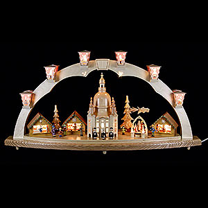 Schwibbögen Mit Innenbeleuchtung Schwibbogen Dresdner Frauenkirche mit Pyramide 80x40 cm