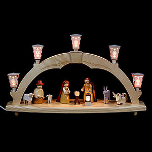 Schwibbögen Alle Schwibbögen Schwibbogen Geburt - elektrisch beleuchtet - 48 cm