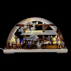 Schwibbögen Laubsägearbeiten Schwibbogen Hofbräuhaus - 43x30 cm