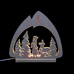 Schwibbögen Laubsägearbeiten Schwibbogen LED-Leuchter Jäger - 30x28,5x4,5 cm