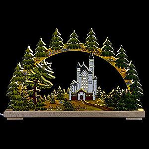 Schwibbögen Laubsägearbeiten Schwibbogen Neuschwanstein sommerlich - 43x30 cm