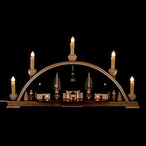 Schwibbögen Mit Innenbeleuchtung Schwibbogen Seiffener Kirche  - 51x29 cm