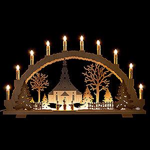 Schwibbögen Mit Innenbeleuchtung Schwibbogen Seiffener Kirche - 70x42 cm