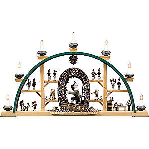 Schwibbögen Alle Schwibbögen Schwibbogen Szenen aus dem Erzgebirge mit Seiffener Hauer - 73x41 cm