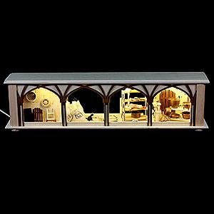 Schwibbögen Schwibbogen-Unterbauten Schwibbogen-Unterbau/Raumleuchte Mehlkammer - 50x12x10 cm
