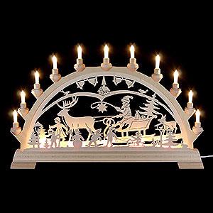 Schwibbögen Laubsägearbeiten Schwibbogen Weihnachtsland - 65x40 cm