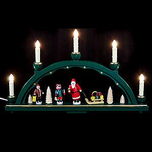 Schwibbögen Alle Schwibbögen Schwibbogen Weihnachtsmann - 48x28 cm