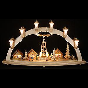 Schwibbögen Mit Innenbeleuchtung Schwibbogen Weihnachtsmarkt - 80x43 cm