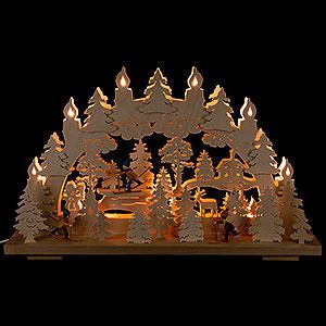 Schwibbögen Laubsägearbeiten Schwibbogen Winterspaß - 50x31 cm
