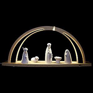 Schwibbögen Alle Schwibbögen Schwibbogen modern wood Christi Geburt - 57x26x10 cm