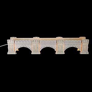 Schwibbögen Schwibbogen-Unterbauten Schwibbogenerhöhung Augustusbrücke, beleuchtet - 72x13x11,5 cm