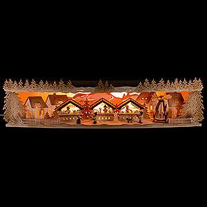 Schwibbögen Schwibbogen-Unterbauten Schwibbogenerhöhung Weihnachtsmarkt - 75x20x15 cm